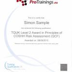 regulated certificate